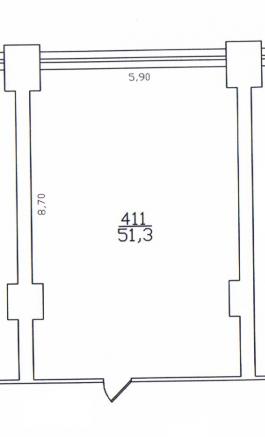 Помещение №411: план